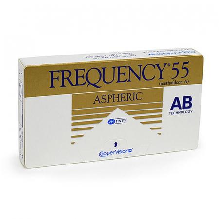 3 Ζεύγη Frequency 55 Aspheric Μηνιαίοι+ Δώρο Yγρό Avizor All Clean Soft 350 ml