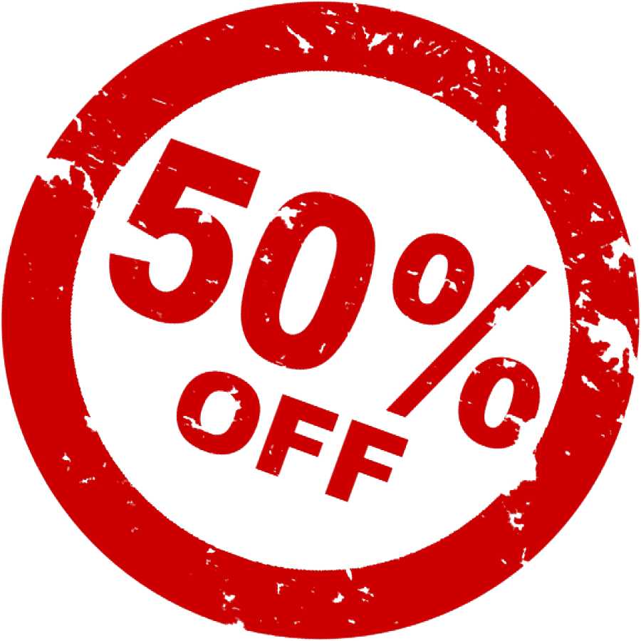 50 Off Discount PNG